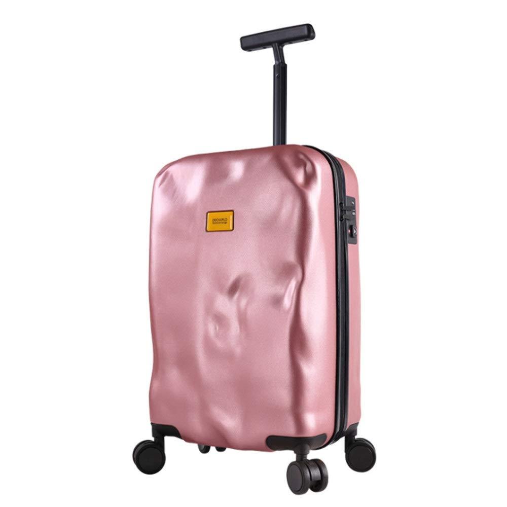 スーツケース 人格被害スタイル微調整旅行荷物スーツケース付きTSAロックハードシェル軽量キャリングコラムサイレントローテーター多方向航空機チェックイン あなたとスーツケースを持っていく (色 : Rose gold, サイズ : 20inches) B07SZTJ7G6 Rose gold 20inches