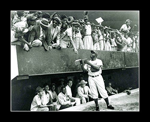 (8 x 10 All Wood Framed Photo Baseball Vintage Jackie Robinson signing Autographs African American)