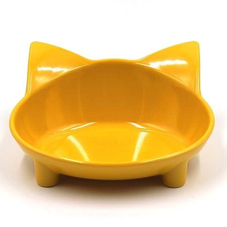 Selotrot - Cuenco de Comida para Gatos, diseño de Gato: Amazon.es ...