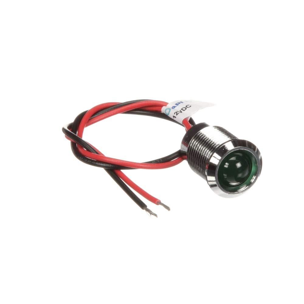 RS Pro 14mm Prom IP67 Sealed Chrome LED; grn 12V, Pack of 2