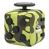 Starsprairie Upgrade Fidget Cube 2th Cool Office Desktop Stress Relief Toys Anxiety Attention Toy Decompresion Dice for Adults,Children,Autism,adhd,and Fidgeters (Green Camo)