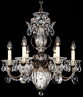 Schonbek 1246-22 Swarovski Lighting Bagatelle Chandelier, Heirloom Gold