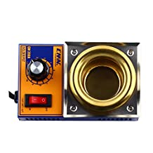Solder Pot 50mm Pot Diameter Lead Free Stainless Steel Solder Furnace Melting Soldering Desoldering Bath with 500g Capacity