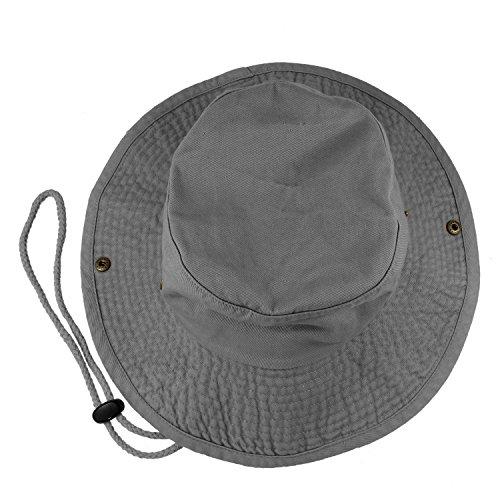 a0a37500288 Gelante 100% Cotton Stone-Washed Safari Booney Sun Hats 1910-Grey-L XL