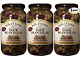 Paisley Farm Natural Four Bean Salad, 35.5oz Glass Jar (Pack of 3, Total of 106.5 Oz)