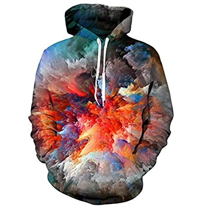 3D Color Digital Print Sweater Mens and Womens Personas Digital Print Jersey Casual Long Sleeves Round Collar Hat Coat