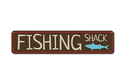 Amazon.com: Iliogine - Cartel de pesca personalizado, diseño ...