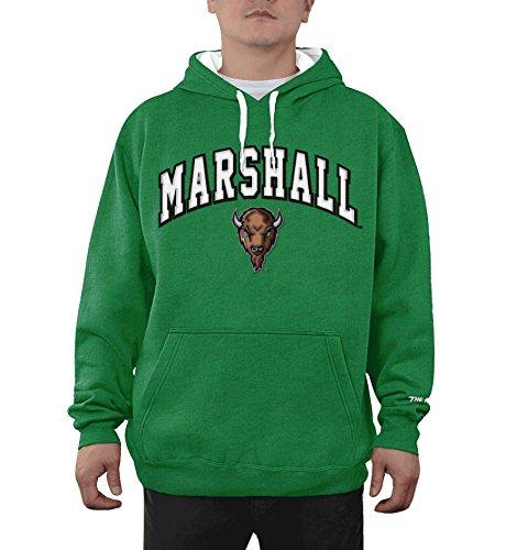 Elite Fan Shop Marshall Thundering Herd Hooded Sweatshirt Arch Logo Green - L - Marshall Thundering Herd Pocket