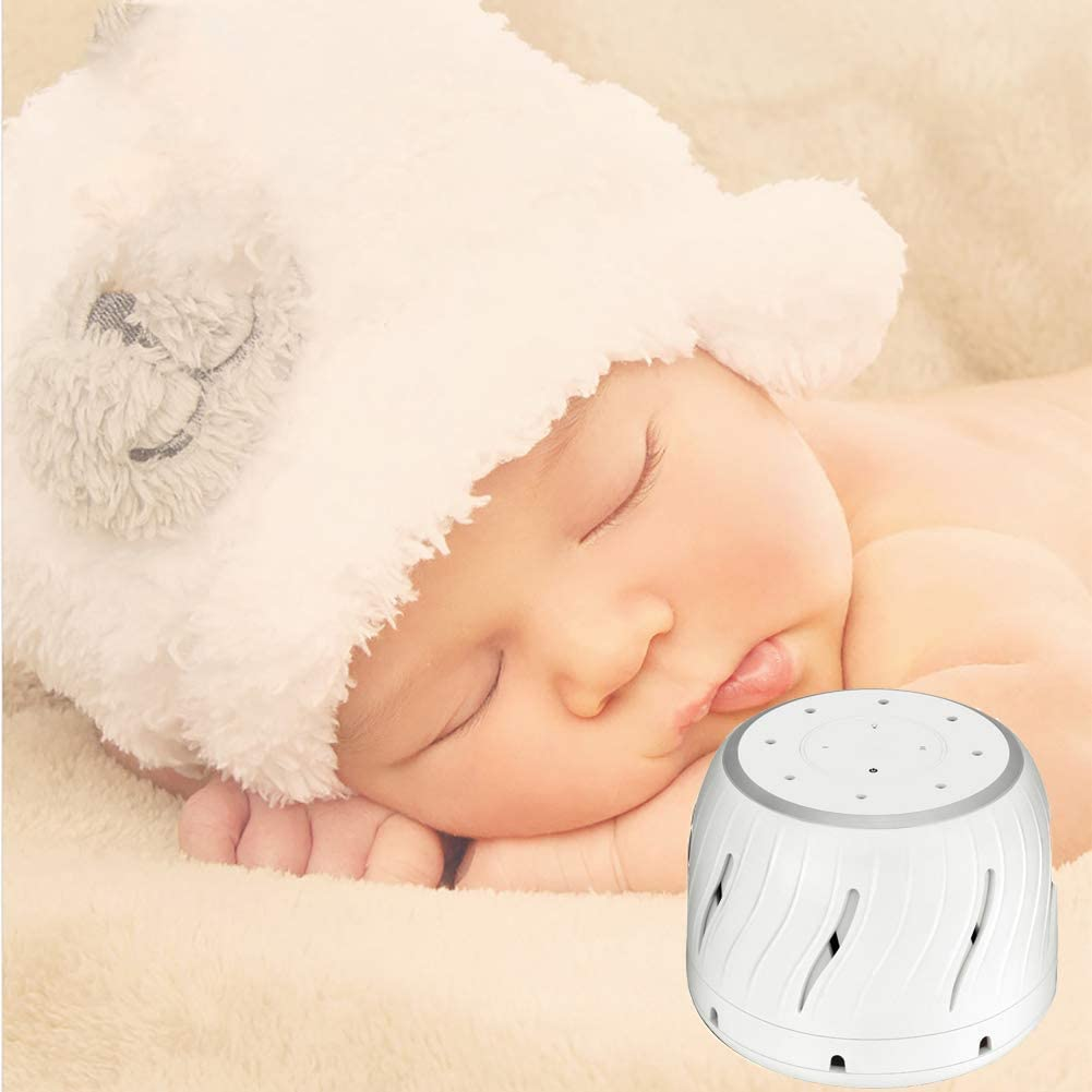 Máquina de Ruido Blanco Ventilador Natural Sonido con luz Nocturna ...