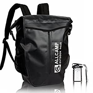 ALLCAMP 30L Waterproof Dry Backpack (black)