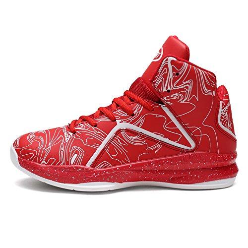 Elaphurus 3 Basket rosso Hi Top Sneaker Uomo Scarpe da wrwqxUvS