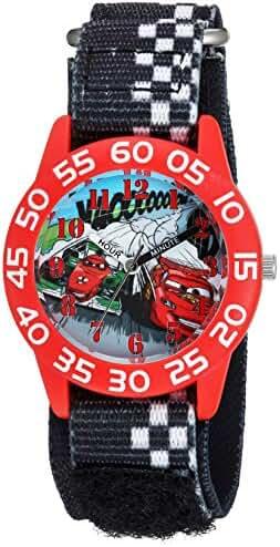 Disney Boy's 'Cars' Quartz Plastic and Nylon Casual Watch, Color:Black (Model: WDS000020)