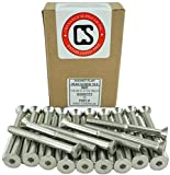Stainless 1/4-20 x 2-1/2'' (1/2'' to 3'' Available) Socket Flat Head Screws, Full Thread, Hex Drive, Stainless Steel 18-8, Coarse Thread (1/4-20 x 2-1/2'')
