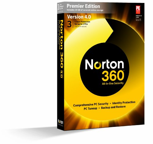 Norton 360 Premier 4 0 1 User  3 Pc   Old Version