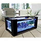 36gl Rectangle coffee table aquarium, completely fish ready with hidden filter and LED lights