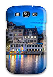 Dolores Phan's Shop New Premium Case Cover For Galaxy S3/ Amazing Zurich At Night Protective Case Cover 3257400K23696090