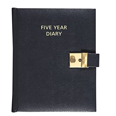 Collins Five Year Diary - Black : Childrens Diaries : Office Products