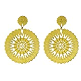 NOVICA 22k Yellow Gold Plated .925 Sterling Silver Dangle Earrings 'Soul of the Sun'