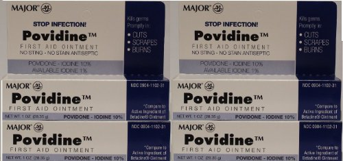 Generic Ointment (Povidone Iodine 10 % Generic for Betadine Ointment 1 oz. Tube Pack of 4 Tubes Total 4 oz.)