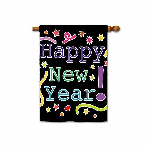 KafePross Happy New Year House Flag 28