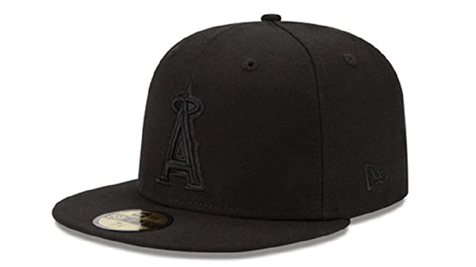 competitive price 852c6 33df8 New Era 59Fifty Hat MLB Basic Anaheim Angels Black Fitted Baseball Cap (7)