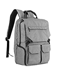 "Laptop Backpack, MoKo Multipurpose Daypacks Lightweight Travel Backpack Business School Bag Satchel, Unisex Luggage & Travel Bags Knapsack, Fit Up to 16"" Macbook Computer Laptops & Tablets - Gray"
