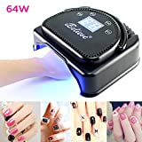 64W LED Quickly Nail Dryer Gel Polish Manicure Machine Table Lamp Electric UV Light Salon Spa Tool Professional 4-12 Days Shipping