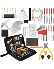 $34 » 54Pcs Complete Guitar Repairing Maintenance Tool Kit, Guitar Repair Tools Setup Kit with Carrying Case, Guitar Cleaning Care Accessories for Acoustic Electric Guitar Ukulele Bass Mandolin Banjo