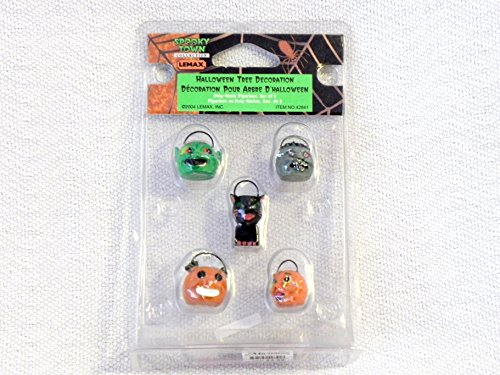 Lemax Spooky Town Village Collection 5-Piece Halloween Tree Decorations #42841 (Halloween Town 5)