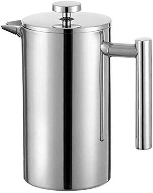 Fablcrew - Cafetera de pistón de doble pared, filtro de café ...