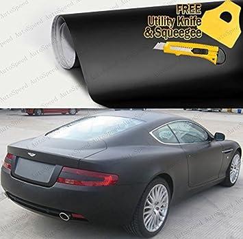 "48/""x60/"" Matte Flat Black Car Vinyl Wrap Sticker Decal Air Release Bubble Free"