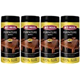 Weiman Wood Cleaner and Polish Wipes - 4 Pack [120 Wipes] - for Furniture to Beautify & Protect No Build-Up Contains UVX-15 Pleasant Scent Surface Safe - 30 Count Each