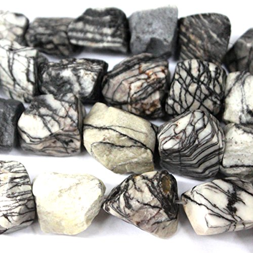 (Natural Rough Unpolished Nuggets 1520mm Zebra Jasper Free Size Gemstone Loose Beads Jewelry Findings)