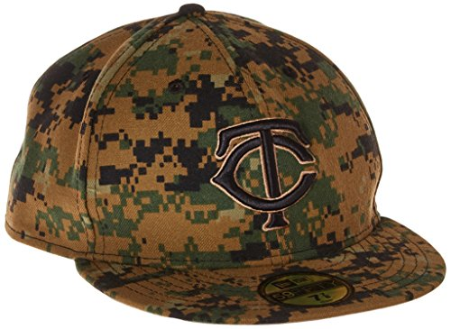 Camo 59fifty Fitted Cap - New Era MLB Minnesota Twins Men's 2016 Memorial Day 59FIFTY Fitted Cap, Size 7 1/2, Military Camouflage