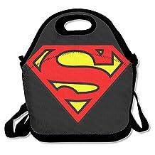 NaDeShop Super Man Logo S Lunch Bag Tote