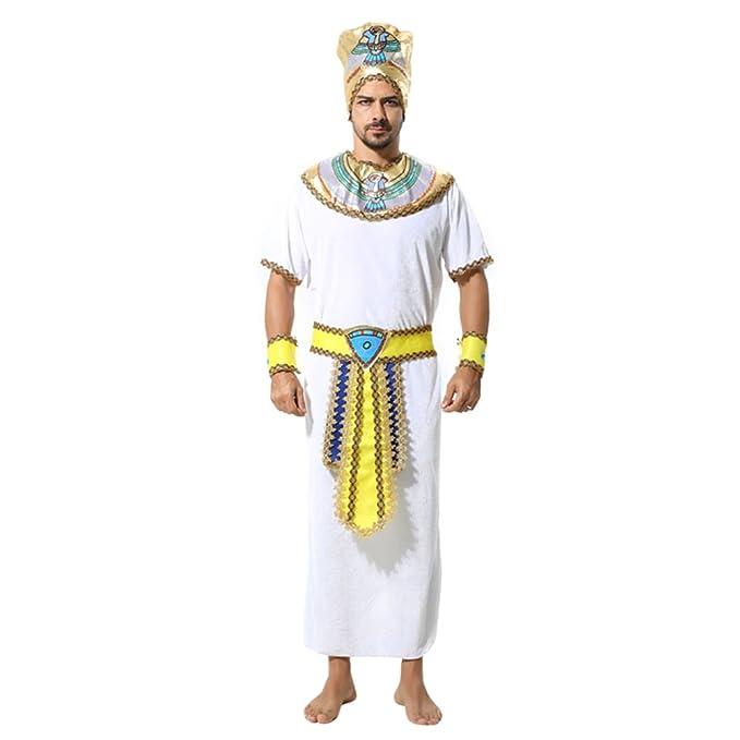 Zhhlaixing Disfraz de Rey Egipcio Halloween Costumes Hombre ...