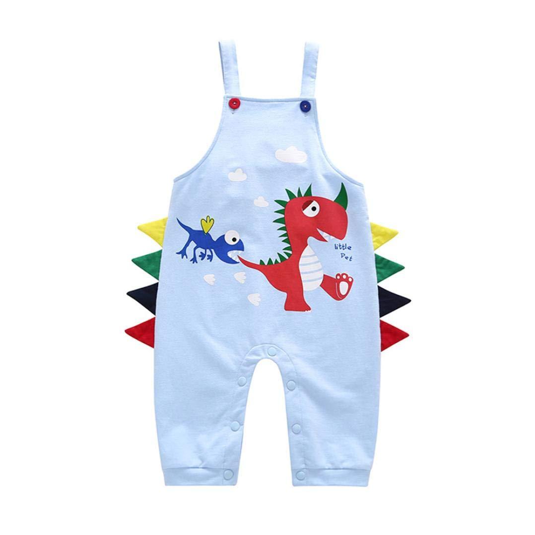 Memela Baby Clothes,Toddler Children Boys Girls Cartoon Dinosaur Straps Pants Rompers Clothes