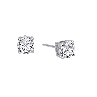 1b486aaf9 Image Unavailable. Image not available for. Color: Lafonn Round Stud  Earrings (2.5 cttw) Platinum Plated