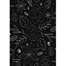 "Cute Journal Unlined: 100 Pages 8.5"" x 11"" Large Blank Notebook Floral Vector Print (Cute Journals) (Volume 1)"