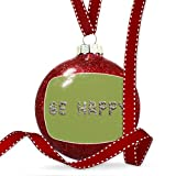 Christmas Decoration Be Happy Spa Stones Rocks Ornament