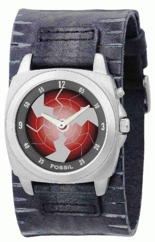 Fossil bg2058 - Reloj Hombre - Cuarzo Analógico y Digitale - Pulsera de Fuerza de Piel Negro: Amazon.es: Relojes
