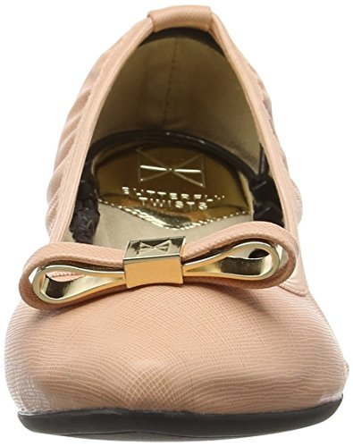 Dusty Twists Pink Ballet Women's Isobel Flats Pink Butterfly YdqHAH