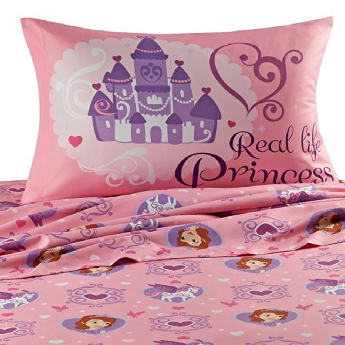 Disney Sofia the First 'Ready to be a Princess' Full Size Sheets (Disney Princess Full Comforter)