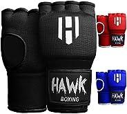 Hawk Padded Inner Gloves Training Gel Elastic Hand Wraps for Boxing Gloves Quick Wraps Men & Women Kickbox