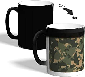 Army clothing Printed Magic Coffee Mug, Black