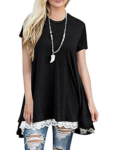 EMVANV-Womens-Casual-Lace-Extender-Short-Sleeve-Flowy-A-Line-Shirts-and-Blouse