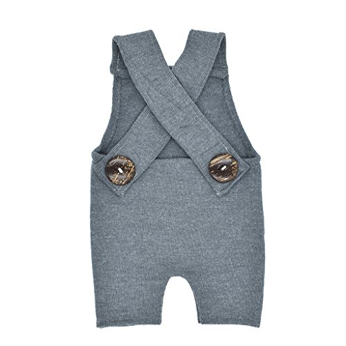 cici store Newborn Baby Boy Girls Overalls Pants Romper Outfit Photography Props Clothes (Gray) -