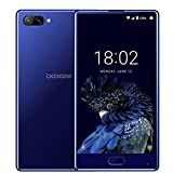 DOOGEE MIX, 4G Unlocked Smartphones Android 7.0 - 5.5 Inch AMOLED HD Screen - MediaTek Helio P25 2.5GHz - 3380mAh Battery - 4GB RAM+64GB ROM - 8MP+16MP Dual Cameras - Unlocked Cell Phones, Blue