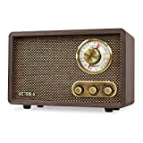 Best Radios - Victrola Retro Wood Bluetooth FM/AM Radio with Rotary Review