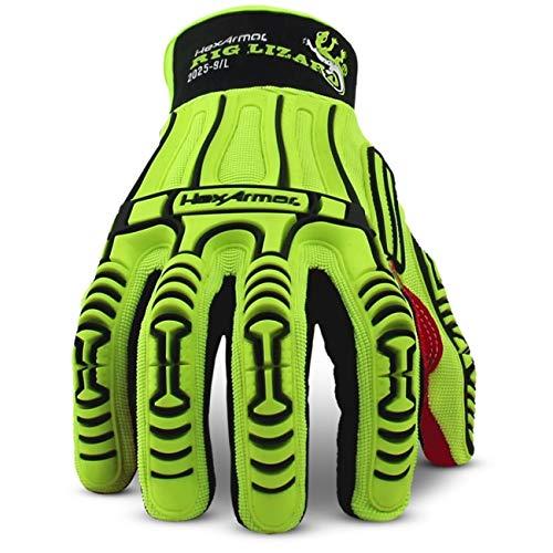 HexArmor Rig Lizard 2025 High Vis Impact Work Gloves with Firm Grip